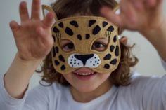 Wild Things - Leopard Felt Animal Mask PDF Sewing Pattern from Willow &…