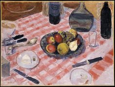 pierre bonnard(1867-1947), the checkered tablecloth, 1916. oil on canvas, 50.8 × 67.3 cm. metropolitan museum of art, new york, usa