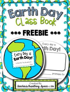 Earth Day Class Book FREEBIE! This little Earth-shaped class book is a fun way to get your students writing about ways to take care of our precious Earth!