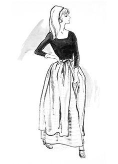 Laura c.1967 Fashion Illustration $75-395 vintage fashion