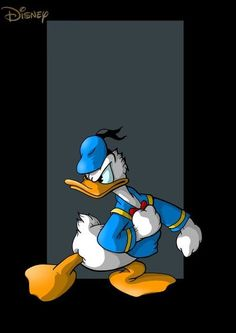 Donald Duck ... I ♥ when he's angry :)