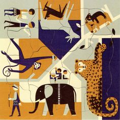 Fredun Shapur Jigsaw ✭ mid century kids design