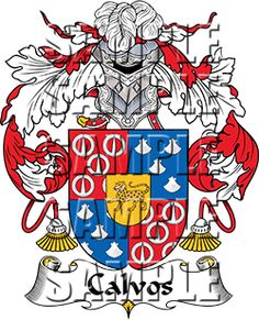 Calvos Family Crest apparel, Calvos Coat of Arms gifts