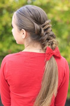 Banded Puff Braid | Cute Girls Hairstyles