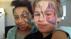 Ansiktsmaler.no sin Frk. C sitt design:) Ansiktsmaling er gøy for alle. Sommerfugl *2