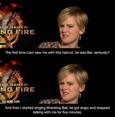 Jennifer Lawrence just being funny.