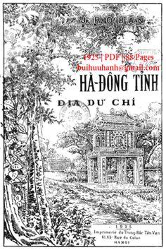 Hà Đông Tỉnh Địa Dư Chí (NXB Trung Bắc Tân Văn 1925) - J. Rouan, 88 Trang | Sách Việt Nam Tan Vans, Colon, Movie Posters, Movies, Films, Tan Shoes, Film Poster, Cinema, Movie