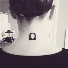 Inked! ♎️ #tattoo #libratattoo #inked #librasign #librabacknecktattoo #ink #fit #fitfam #fitgirl #fitness #fitnessgirl #birthday #gift #balance #happybirthdaytome #tattooed #tetování #váhy #jupí