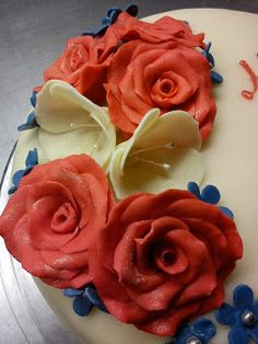 chocolate fondant roses
