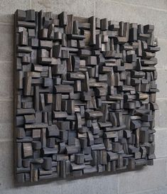 Smokey (2014) - contemporary wood wall sculpture by artist Olga Oreshyna