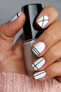 Nail Art .. I would also like to see this design with pale pink and black