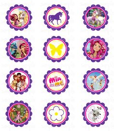 CUPCAKE TOPPERS  Mia and Me inspired  Printable by JustAddFrosting, $4.00