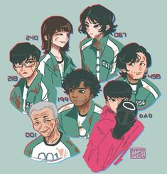 Игра в кальмара / Squid Game🦑 Be Like Meme, Himiko Toga, Squid Games, Funny Games, Aesthetic Art, Cool Drawings, Cartoon Art, Art Sketches, Favorite Tv Shows