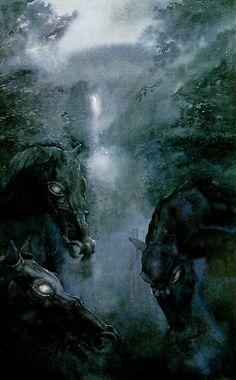 horses   #art #artwork #illustration
