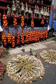 Mercado de frutas y verduras, Catania, Sicilia, Italia