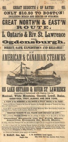 Great North'n & East'n Route. American & Canadian Steam'rs (B0182) - Emergence of Advertising in America - Duke Libraries