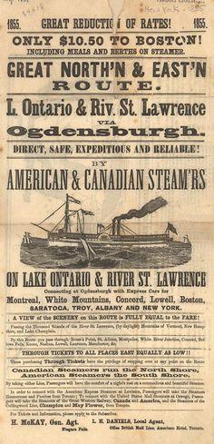Great North'n & East'n Route. American & Canadian Steam'rs (B0182) - Emergence of Advertising in America - Duke Libraries