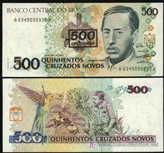 BRASIL. Billete de 500 cruzeiros 1990