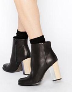miista ali perspex heeled ankle boots  black #perspexheels #heeledboots #heeledankleboots #boots #shoes #covetme