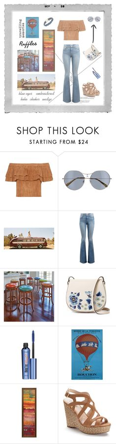 """""""travelling memories"""" by xanthik ❤ liked on Polyvore featuring Polaroid, D'Blanc, Spell & the Gypsy Collective, Frame, Improvements, French Connection, Benefit, Jennifer Lopez and Vanessa Mooney"""