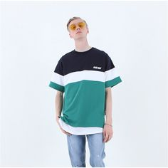 NEWW COLOR BLOCK T NAVY