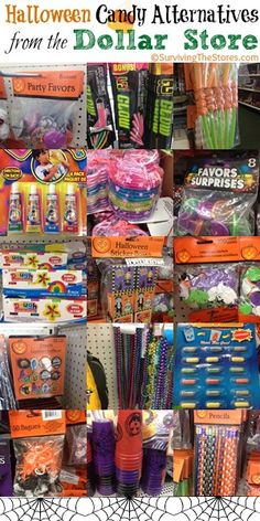 If you do not want to pass out candy this year or want another option for kids to choose then check out 15 different candy alternatives that you can find at the dollar store!  I am always amazed at how many kids choose the toys over candy! #halloween #candy #nosugar