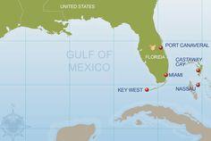 Disney Cruise Line Bahamian Cruise Map