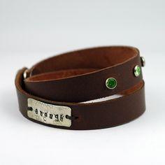 Leather Wrap Bracelet personalized for you. @Studio Jewel