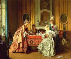 A Fair Hand, 1873 - Jean Carolus - Oil Painting Reproductions