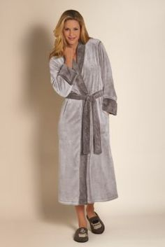 Carole hochman diamond quilted long zip robe fashion pinterest sherpa robe by natori fleece robe warm bathrobe fleece sciox Image collections
