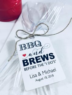 Party Favor Hang Tags, Wedding Favor Paper Tags, Bbq with Rehearsal Dinner Decorations Party Favors Dinner Party Favors, Rehearsal Dinner Decorations, Bbq Party, Rehearsal Dinner Bbq, Wedding Rehearsal Dinners, Bbq Decorations, Beach Party, Wedding Decorations, Before Wedding
