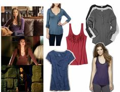 Elena Gilbert (The Vampire Diaries) fashion looks so comfortable but cute at the same time.