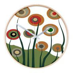 Funky Trees 4 Wall Clock> Funky Art III> Gail Gabel http://www.cafepress.com/gailgabel.1244607443