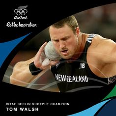 This time it's Tom Walsh - Shot Put who beat David Storl of Germany to win the men's shot, throwing 21.22 mtrs
