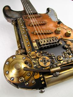 """Coppercaster electric guitar by Tony Cochran Guitars -- sold to Rick Springfield & is featured on his CD cover """"Songs for the End of the World"""""""
