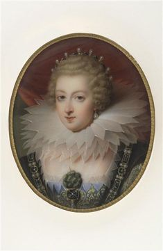 Portrait d'Elisabeth de Bourbon, fille de Henri IV ...  Jaquotot Marie-Victoire (1772-1855), peintre sur porcelaine ... Miniature