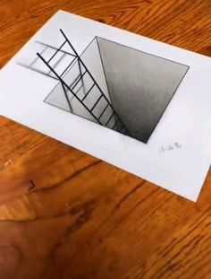 Easy Doodles Drawings, Unique Drawings, Art Drawings Beautiful, Art Drawings For Kids, Art Drawings Sketches Simple, 3d Pencil Drawings, 3d Art Drawing, Easy 3d Drawing, 3d Drawing Tutorial