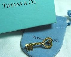 TIFFANY-CO-18K-Gold-Heart-Key-Pin-4-7-grams-1-1-8-with-pouch-and-box