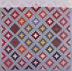 Album Block Quilt, 1855. Made by Quartus Eugene Moore. Leverett. Massachusetts Quilts, Our Common Wealth.