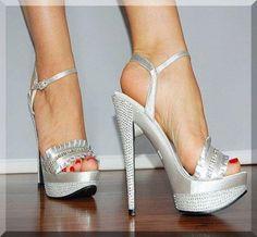 Silver shoes #shoes