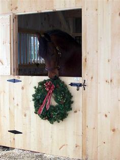 Christmas decorations even in the barn
