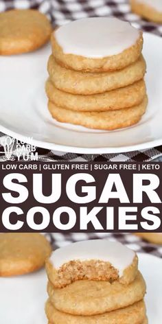 keto dessert Simple low carb keto sugar cookies are perfect for any holiday or special occasion. These sugar-free and gluten-free treats are sure to be loved by all. Keto Cookies, Cookies Gluten Free, Gluten Free Treats, Sugar Cookies Recipe, Low Sugar Cookies, Healthy Sugar Cookies, Diabetic Cookies, Coconut Flour Cookies, Cream Cookies