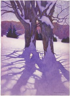 George Hawley Hallowell, Trees In Winter, c.1910