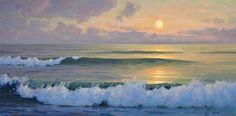 Sunrise - Sam Vokey, oil 17x34 inches