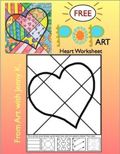 """Valentine's Day Activity: Valentine's Day Coloring Sheets + Writing Prompts Valentine's Day """"Pop Art"""" Draw and Color Worksheet/Printable ***FREE***Valentine's Day """"Pop Art"""" Draw and Color Worksheet/Printable ***FREE***"""