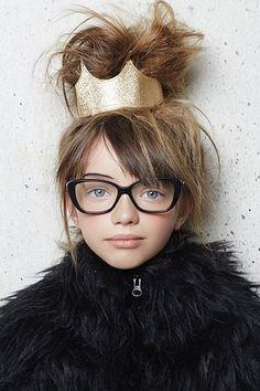 glasses + glitter crown