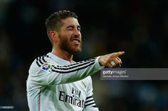 Sergio Ramos of Real Madrid CF celebrates scoring their second goal during the La Liga match between Real Madrid CF and Rayo Vallecano de Madrid at Estadio Santiago Bernabeu on November 8, 2014 in Madrid, Spain.