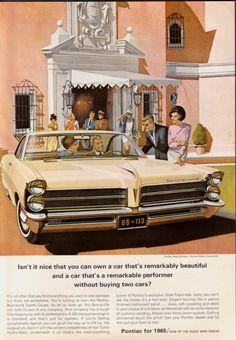 1965 Pontiac Bonneville Advertising Illustration