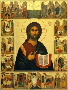 Icon of Jesus Christ Images Of Christ, Religious Images, Religious Icons, Religious Art, Russian Icons, Byzantine Icons, Byzantine Art, Biblical Art, Catholic Art