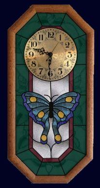 swallowtail butterfly pendulum clock